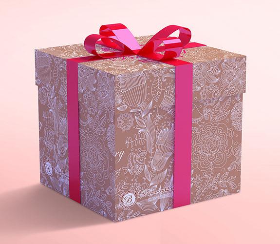 巴宝莉美容SPA会所礼品盒设计