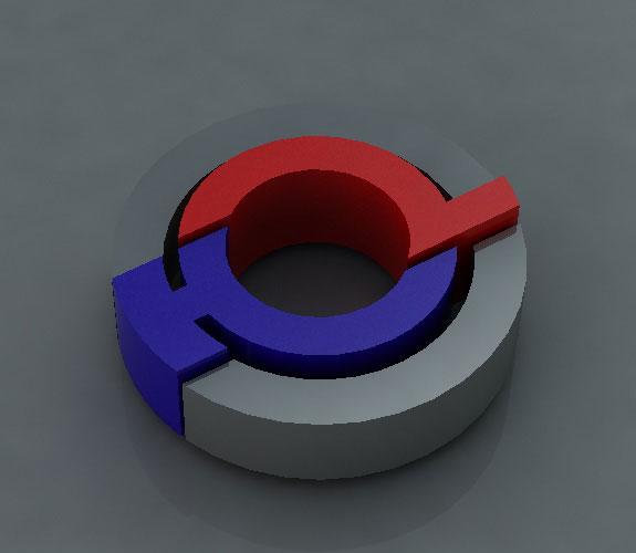 恒力波纹管标志烤漆字立体效果设计