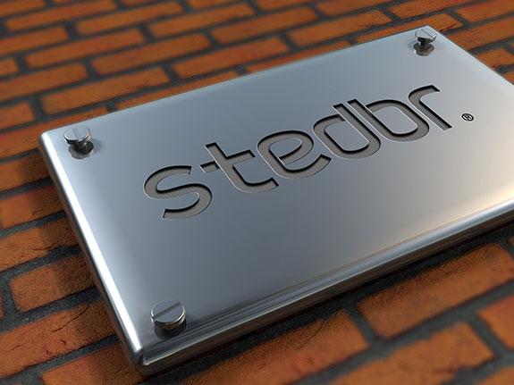 斯泰尔伴热标志不锈钢效果