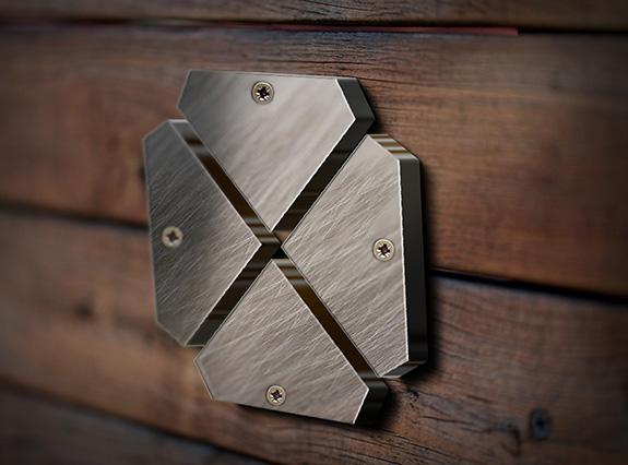 盛祥机械标志不锈钢效果