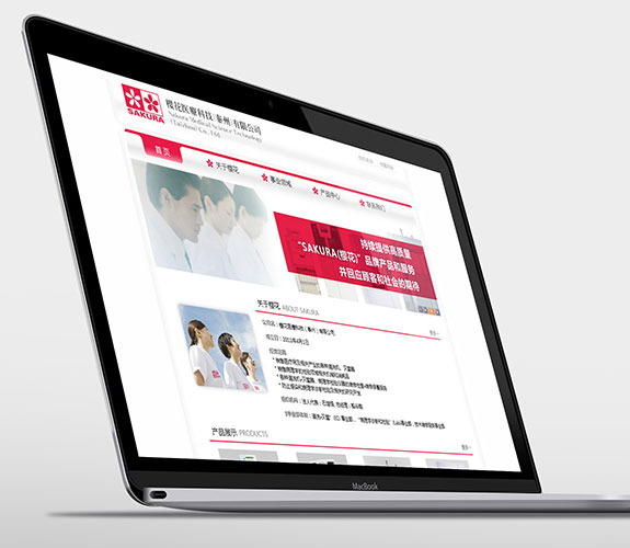 药城樱花医疗网站规划设计